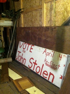 Old election signs.