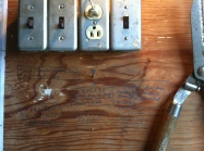 Pencil on wall. Classic.