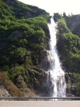 Bridal Veil Falls outside of Valdez.