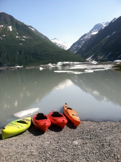 Kayaking at the Valdez Glacier.