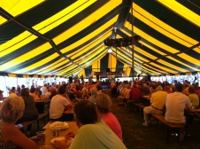 HUGE tent of polka.