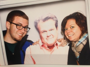 Connor and I met Cam from Modern Family. Well, a cardboard cutout of him anyways.