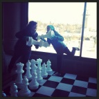 Playing a little chess at Roosevelt.