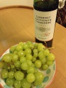 See? Grapes (in the bowl I bought today) and wine. We're European now.