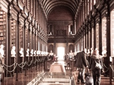 The Long Room at Trinity. Felt a little bit like I was at Hogwarts.