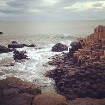 "So the Giant's Causeway is this shore where the rocks are pillar, hexagonal shapes. Volcanic eruptions more than sixty million years ago or something. OR as Rick Steves writes, ""It's as if the earth were offering God his choice of 37,000 six-sided cigarettes."" Well played, Rick Steves. Well played."