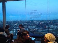 The end of the tour was drinking a pint in the Gravity Bar. It was pretty cool; a 360 degree view of the city.