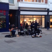This is a Friday leftover. Band on Grafton street.